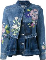 Alexander McQueen embroidered denim jacket - women - Cotton/Viscose - 42