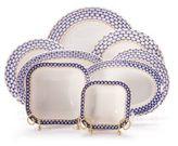 Imperial Porcelain 24-Piece 22K Gold Accented Porcelain Dinner Set