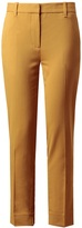 Stretch wool pencil trousers