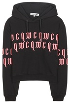 McQ by Alexander McQueen Embroidered Cotton Hoodie