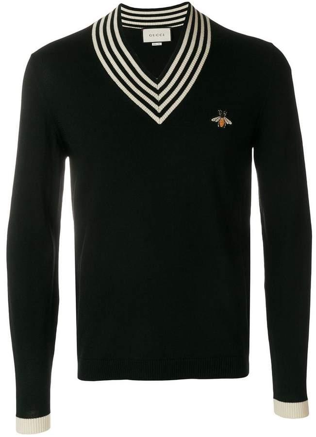 Gucci bee appliqué sweater