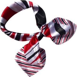 Deloito  Scarf Women Scarves Fashion Square Head Scarf Wraps Scarves Ladies Printed Kerchief Neck Scarf Womens Faux Silk Square Kerchief Neckerchief Scarves Business Wear (F Size:50x50CM)