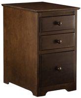 Atlantic Walnut Finish Wood 3-Drawer File Cabinet