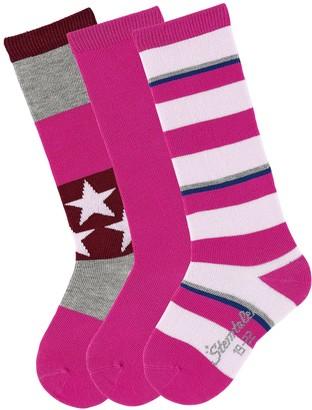 Sterntaler Baby Girls' Kniestrumpfe 3er-Pack Sterne Socks