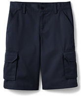 Lands' End Boys Stain Resistant Cargo Chino Shorts-Red