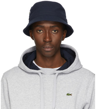 Lacoste Navy Cotton Bucket Hat