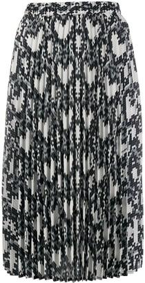 Love Moschino Snake-Print Skirt