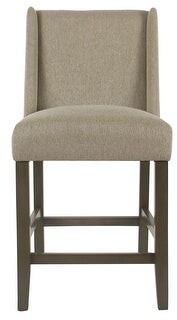 "HomePop Dinah Modern 24"" Counter Stool - Stone - 24 inches"
