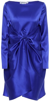 BERNADETTE Judy stretch silk-satin dress