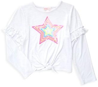 Design History Little Girl's & Girl's Star Tie-Front Top