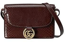 Gucci Women's Small GG Ring Python Shoulder Bag
