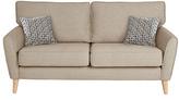 Hygena Olivia 3 Seater Fabric Sofa - Natural
