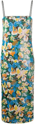 M Missoni Sequinned Floral Midi Dress