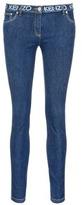 Kenzo Logo print waist skinny jeans