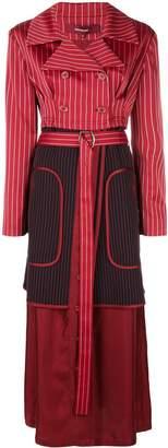 Sies Marjan pinstripe double breasted coat