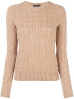 Polo Ralph Lauren cashmere cable knit jumper - women - Cashmere - XL