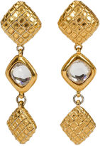 One Kings Lane Vintage 1970s Chanel Waffle & Crystal Earrings