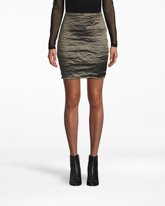 Nicole Miller Techno Metal Mini Skirt