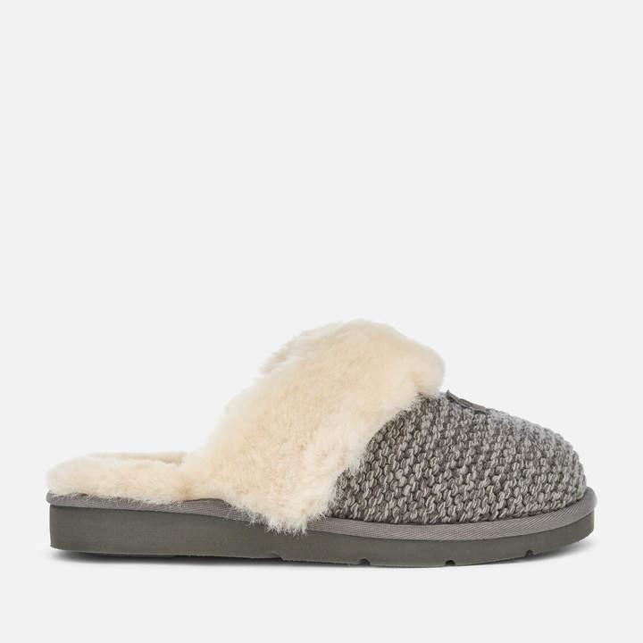 3eefa880a8f Women's Cozy Knit Slippers - Charcoal