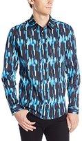 Clover Canyon Men's Camo Lights Poplin Button-Down Shirt