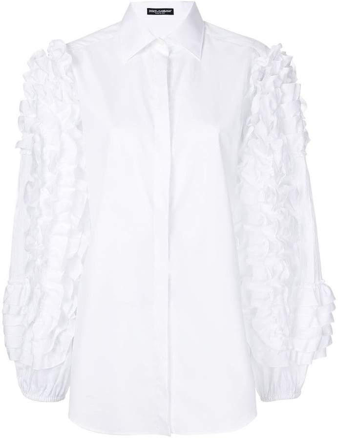 Dolce & Gabbana ruffle sleeve shirt
