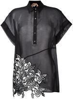 No.21 embroidered detail polo shirt - women - Silk/Cotton/Polyester - 40