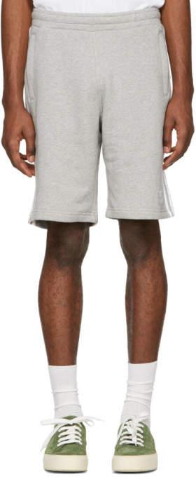 adidas Grey 3-Stripe Shorts