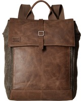 Toms Stone Leather/Canvas Backpack
