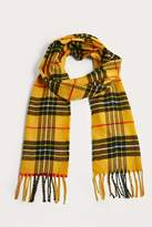 Urban Outfitters Yellow Plaid Scarf