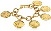 Yochi Gold Plated Alexander Multi-Coin Bracelet