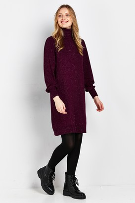 Wallis Berry Sparkle Knitted Dress