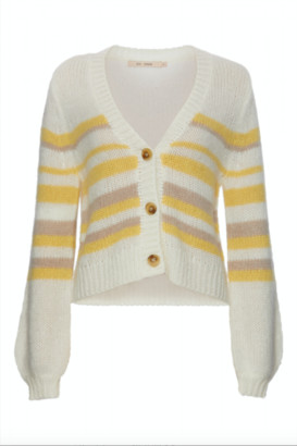 RUE DE FEMME - Cardigan Lady - Striped Creme / S