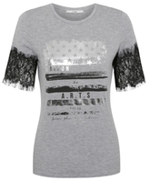 George Lace Trim Graphic Top