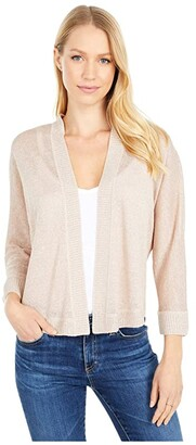 Nic+Zoe Petite Gleaming Cardigan (Bleached Copper) Women's Clothing