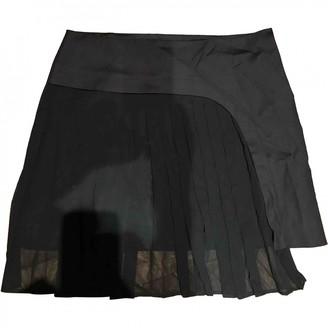 Rue Du Mail Black Cotton Skirt for Women