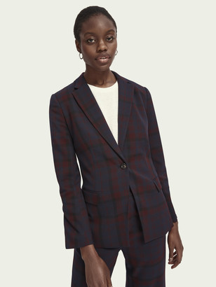 Scotch & Soda Longer length checked blazer | Women