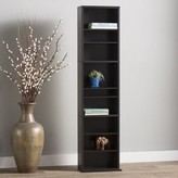 Andover Mills Traditional Wood Multimedia Wall Mounted Storage Rack Color: Espresso