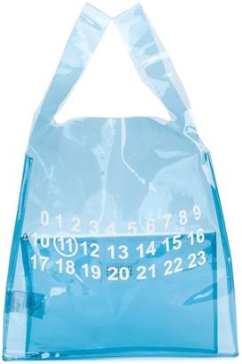 Maison Margiela Printed Detail Clear Bag