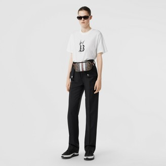 Burberry Cherub Print Cotton Oversized T-shirt
