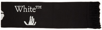 Off-White Black and White New Logo Scarf