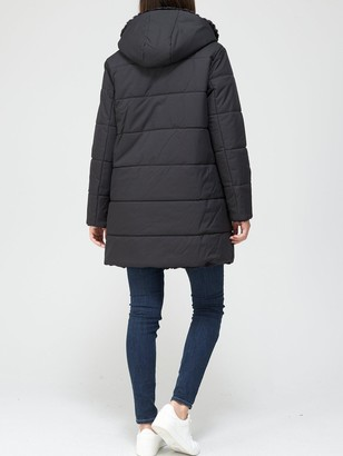 EA7 Emporio Armani Long Padded Jacket - Black