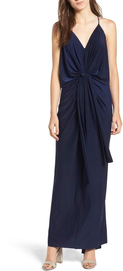 MISA LOS ANGELES Domino Knot Maxi Dress