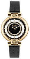 Thumbnail for your product : Versus By Versace Versus Women's Silver Lake Black Leather Strap Watch 36mm