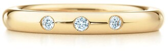 Tiffany & Co. Elsa Peretti stacking band ring in 18k gold with diamonds
