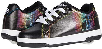 Heelys Split MTV (Big Kid/Adult) (Black/White/Rainbow) Girl's Shoes