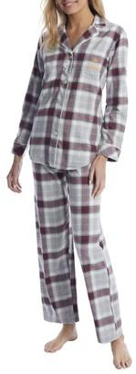 Lauren Ralph Lauren Grey Plaid Brushed Twill Pajama Set