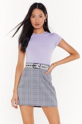 Nasty Gal Womens mono check mini skirt - grey - 8