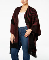 Style&Co. Style & Co. Plus Size Jacquard Poncho, Only at Macy's
