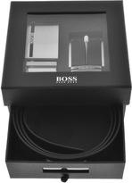 HUGO BOSS Galliz Leather Belt Gift Set Black