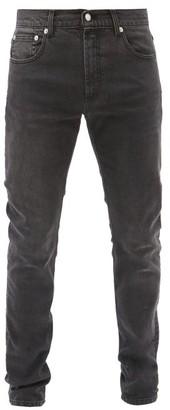 Alexander McQueen Logo-embroidered Slim-leg Jeans - Black